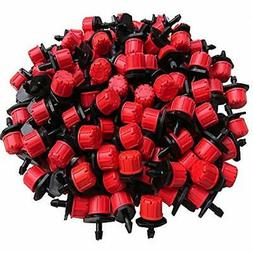 Korty 100pcs 360 Degree Adjustable Irrigation Drippers Sprin