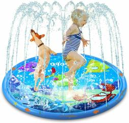 ASPPOPO Sprinklers for Kids Water Play for Kids Outside 68''