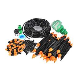 Boruit DIY 25m Auto Drip Irrigation Kit with Timer,Plant Gar