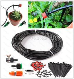 AUTO 25m 75FT Micro Drip Irrigation System Plant Greenhouse