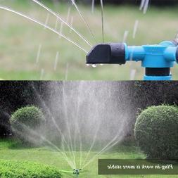 Automatic 360° Rotating Garden Water Sprinklers Lawn Irriga