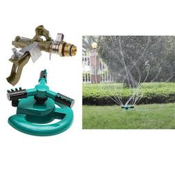 Automatic Garden Water Sprinklers Lawn Irrigation Rotating&I