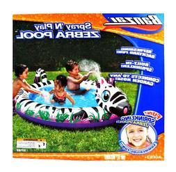 Banzai Spray 'N Play Series Swimming Pool - ZEBRA POOL with