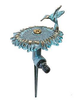 Brass Decorative Lawn & Garden Sprinkler - Sunflower with a