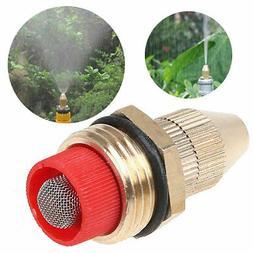 Brass Low Pressure Water Fog Mist Nozzle Misting Spray Sprin