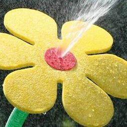 Dancing Daisy Yellow Garden Water Feature Sprinkler Summer F