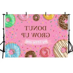 Donut Grow Up Party Photography Backdrop Baby Shower Sprinkl