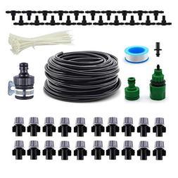 Drip Irrigation Kit 1/4'' 50ft, Tubing Watering Kit, Automat
