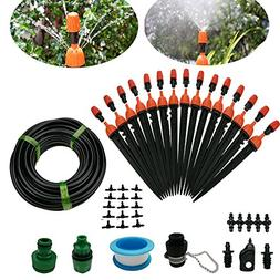 Drip Irrigation System DIY 50FT Micro Dripper Sprinkler Plan