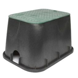 "Storm Drain FSD-120 Black 12"" Deep Sprinkler Valve Box and L"