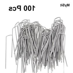 "200pcs Galvanized 6"" Landscape Sod Staples Ground Garden Sta"