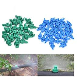 Eshylala 50 Pcs Atomizing Sprinkler Spray 180 Degree Refract