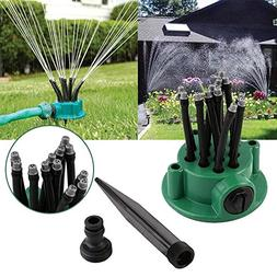 OYJJ 360 Degree Garden Automatic Multi-Head Sprinkler Multi-