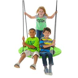 Saucer Swing in Royal Blue and Bold Green Tree Swing Nest Sw