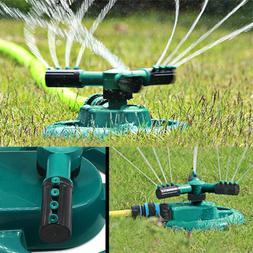 Head Automatic Water Sprinklers Lawn Sprinkler Garden 360°R