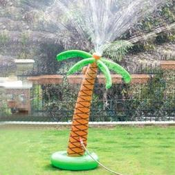 Inflatable Accent Palm Tree Yard Sprinkler for Kids Summerti