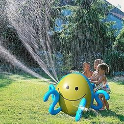 Inflatable Splash Sprinkler Beach Ball Octopus Water Spray w