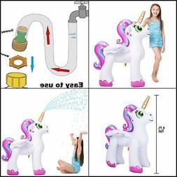 Inflatable Unicorn Yard Sprinklers Alicorn Pegasus Lawn Spri