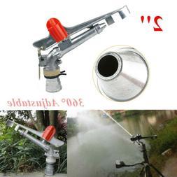 "Irrigation Spray Gun 2"" Sprinkler Large Impact Area 360° Ad"