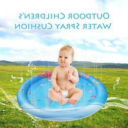 Kids Outdoor Water Sprinkler Splash Play Mat Shallow Toddler