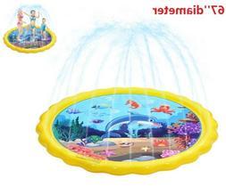 """KIDS WATER SPRINKLER PAD 67"""" Outdoor Yard Toddler Fun Inflat"""