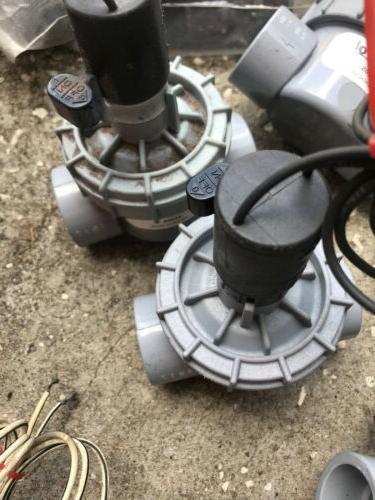 """1"""" Irritrol Sprinkler Solenoid Valve - Jar Top Control Lot of 5"""