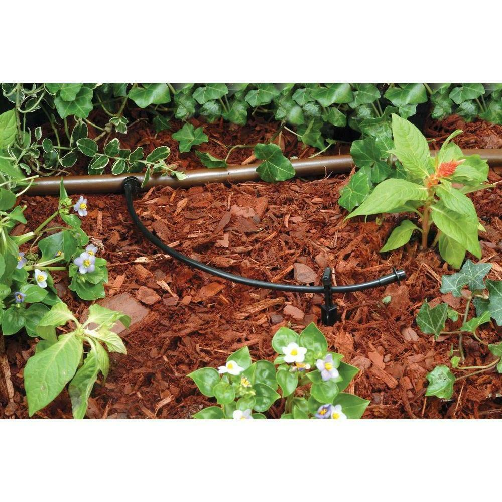 100 Ft Drip Irrigation Micro Water Outdoor Black