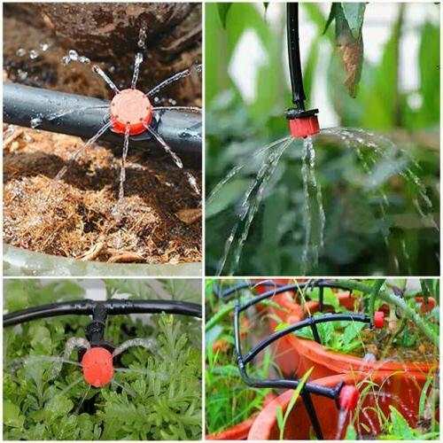 100 Pack Irrigation Sprinklers Watering Drippers Adjustable Drip