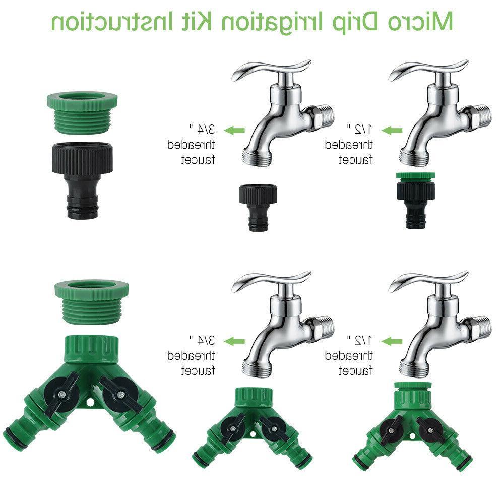 100ft Auto Irrigation Micro Sprinkler Garden