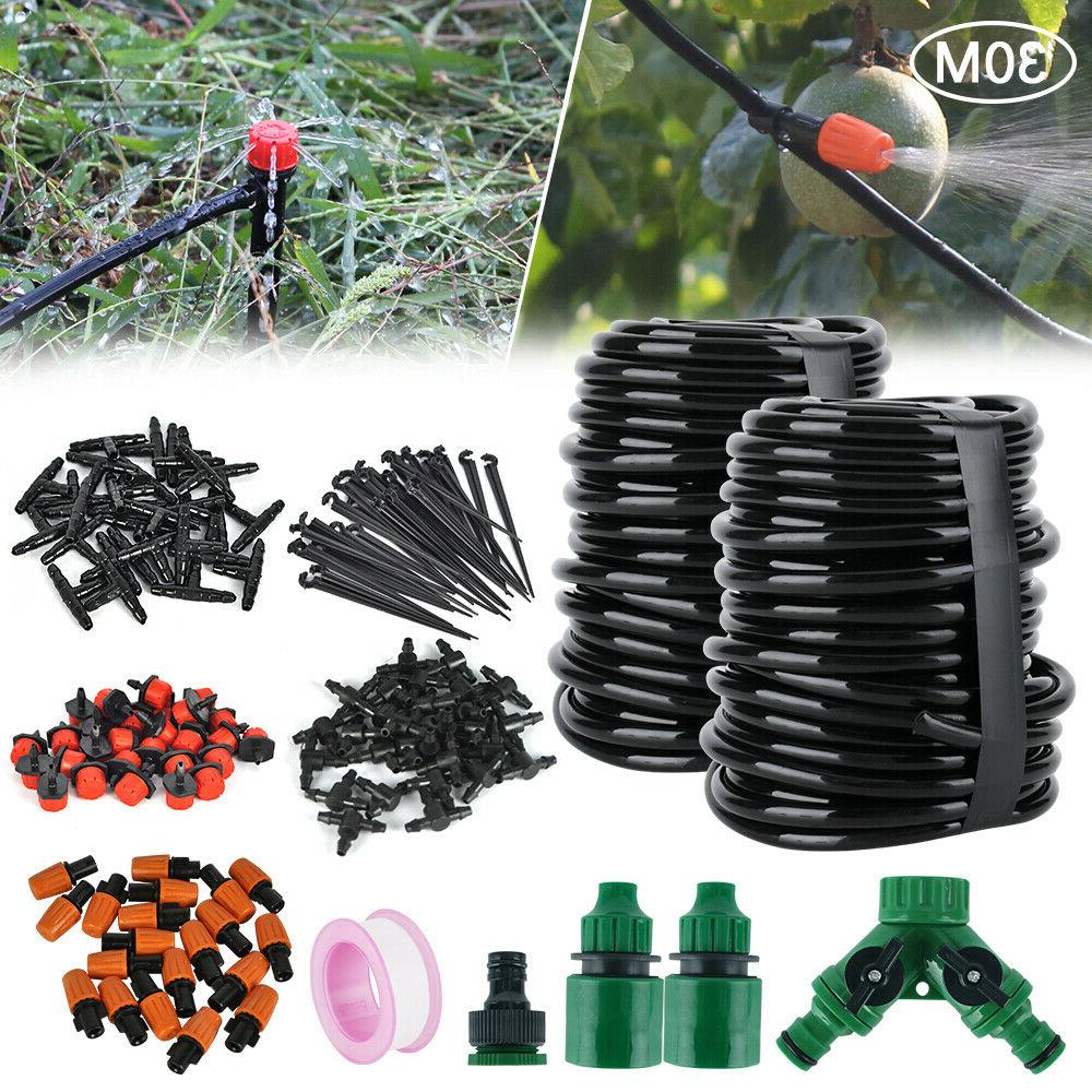 100ft 30m auto drip irrigation system kit