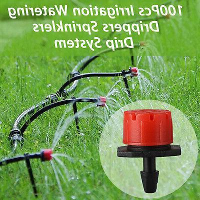 100x Micro Drip Adjustable Watering Emitter Drippers Sprinklers