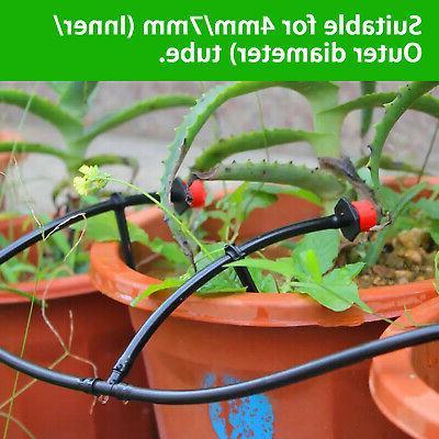 100x Drip Irrigation Adjustable Watering Emitter Drippers Sprinklers