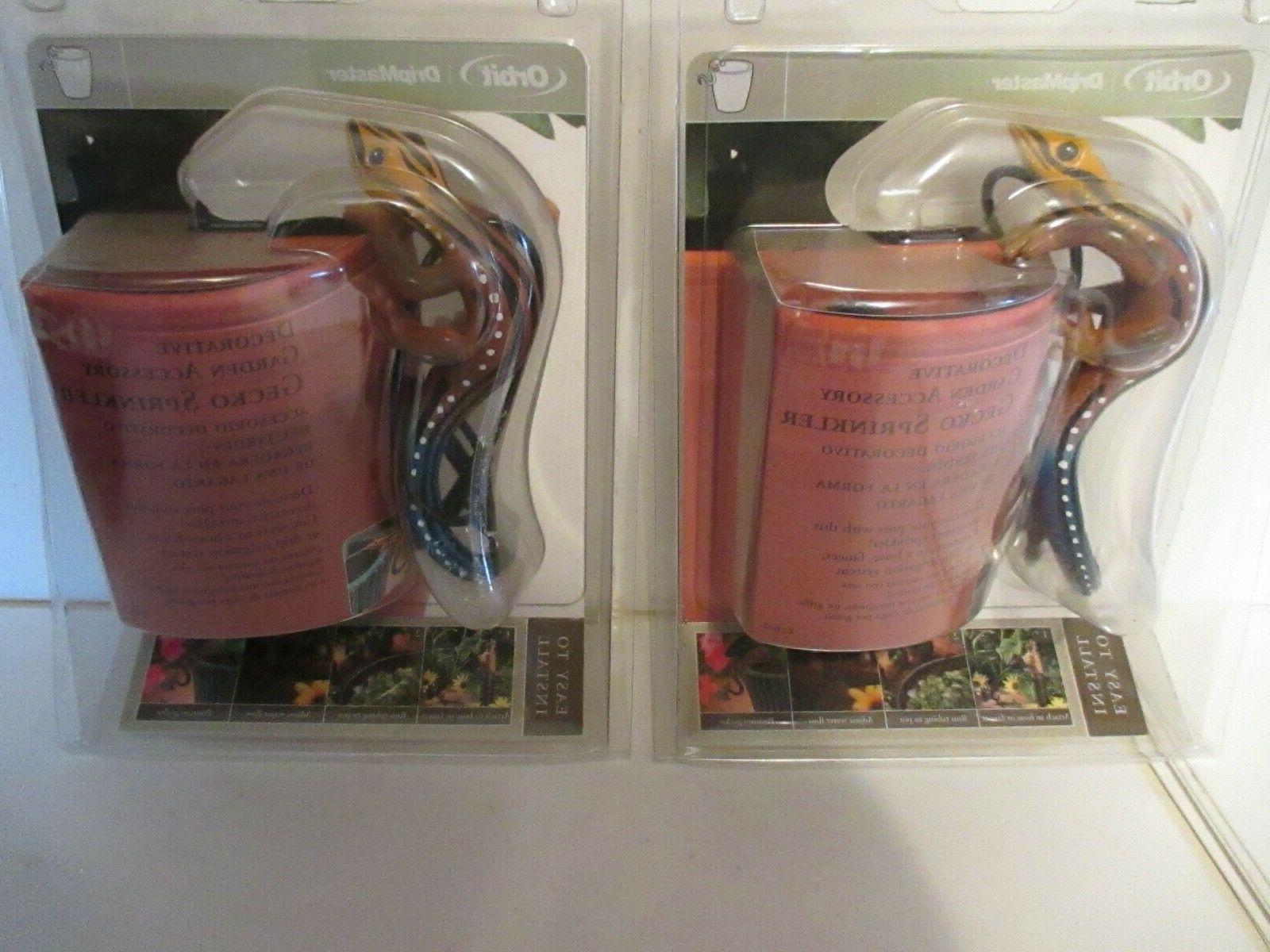 2 dripmaster decorative garden accessory gecko sprinkler