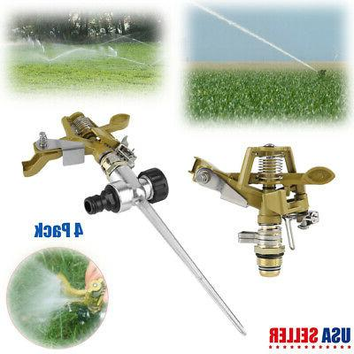 2 pack 360 rotating lawn sprinkler garden