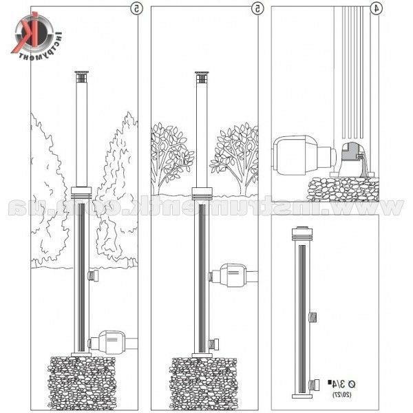 3 Sprinklers Gardena 1566-29 S 80/300 Pop-up Black 20 80