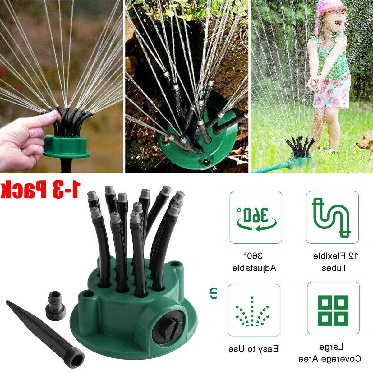 360 automatic rotating lawn sprinkler garden grass