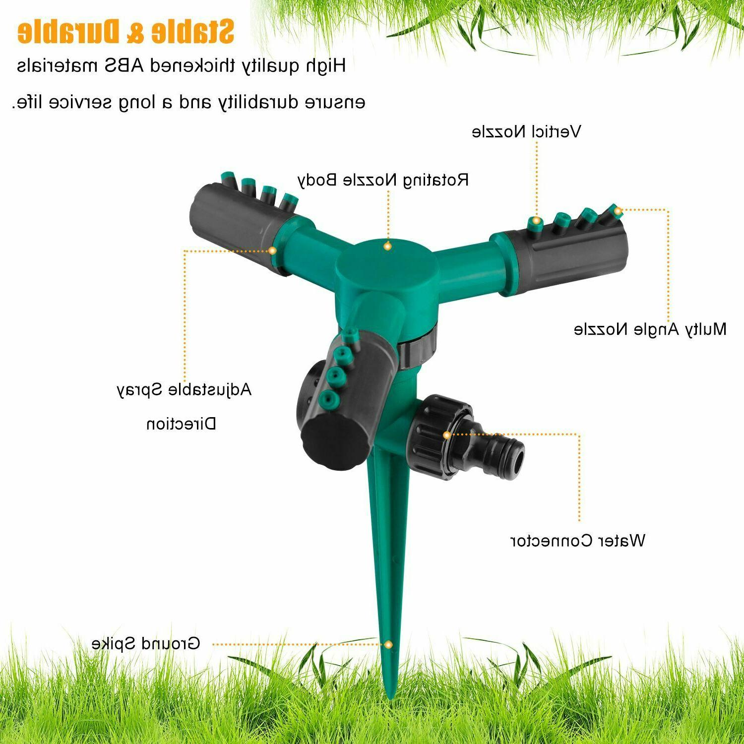 360° Automatic Rotating Sprinkler Grass System Water