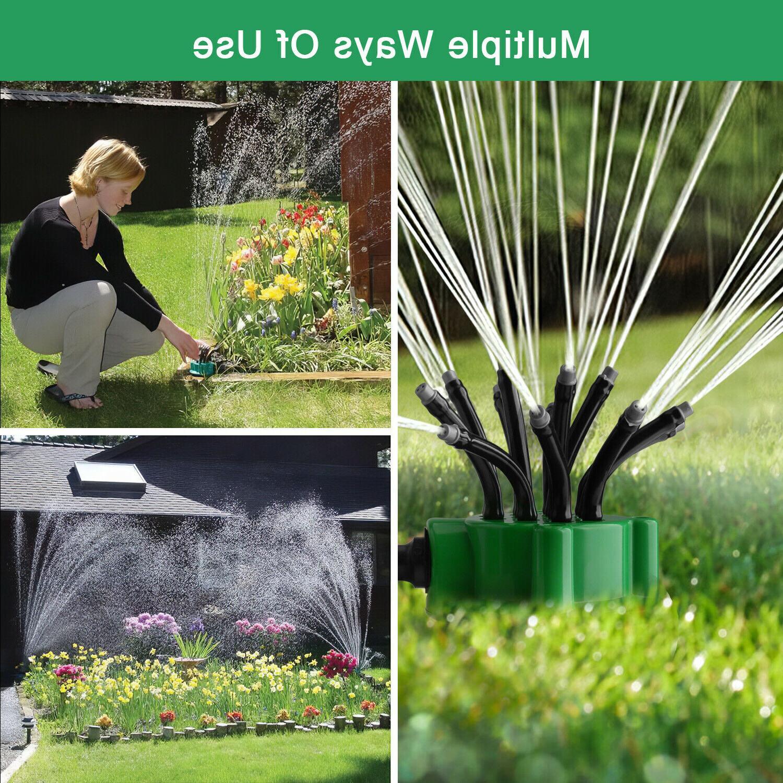 360° Auto Garden Sprinkler System Water Spray