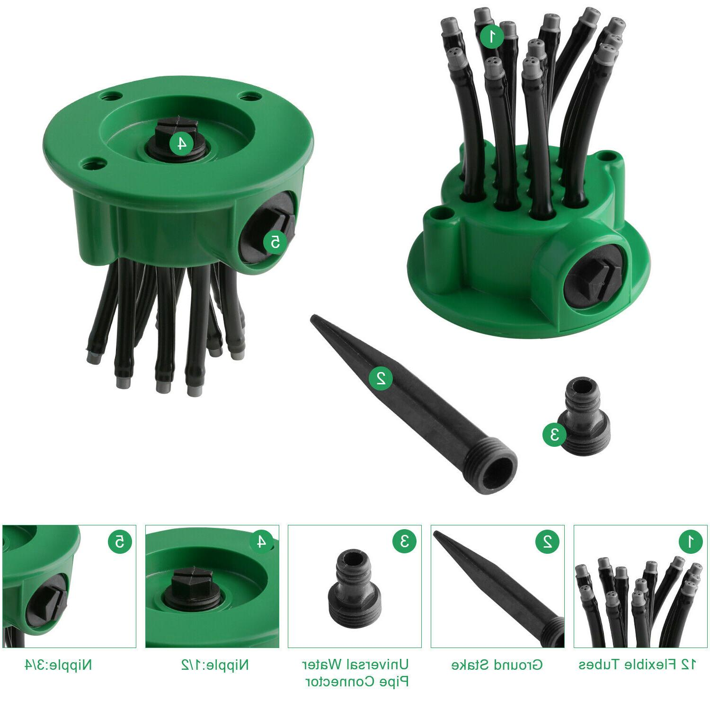 360° 12 Garden Sprinkler Watering System