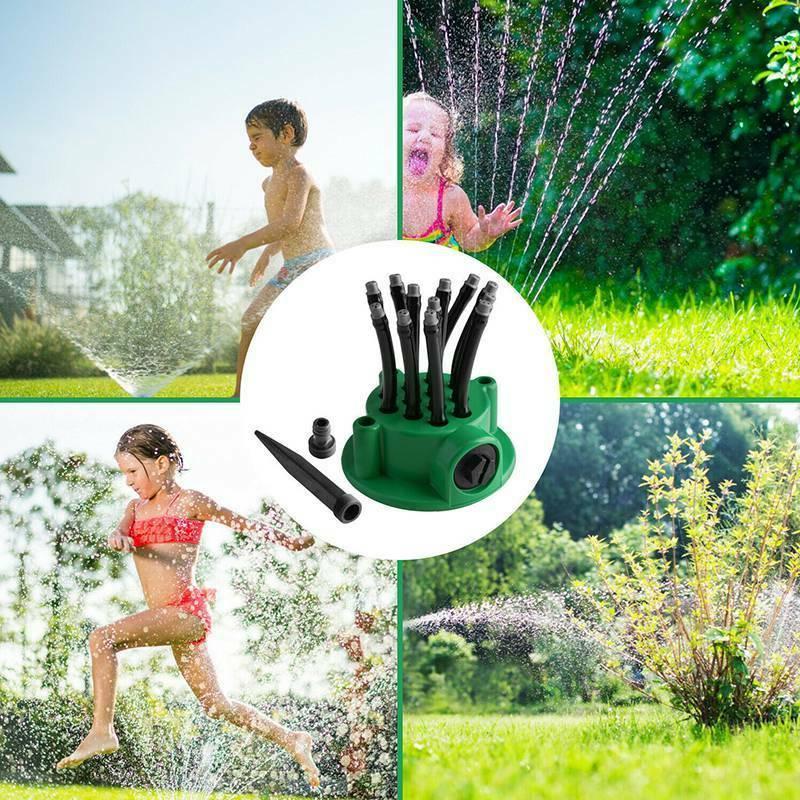 360°Lawn Sprinkler Head Garden Yard Water Sprayer Irrigation System US