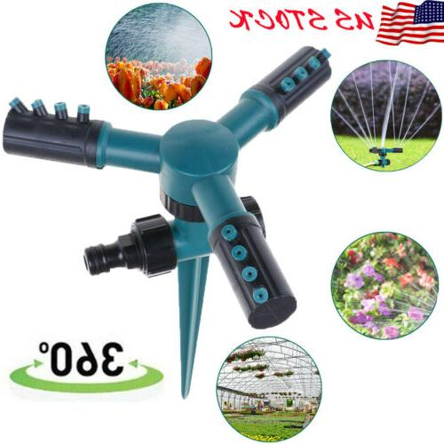 360 lawn sprinkler automatic rotating garden water