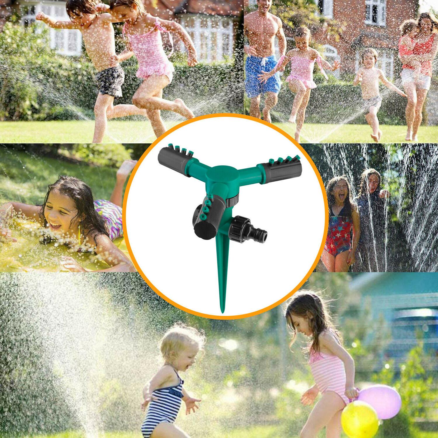 2× Rotating Lawn Water Sprinkler Garden Irrigation System