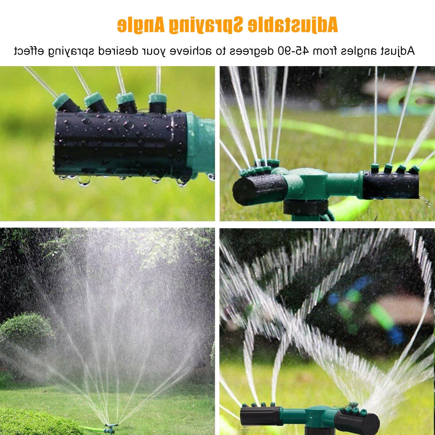360° Rotating Lawn Sprinkler Automatic Garden Sprinklers Lawn Irrigation