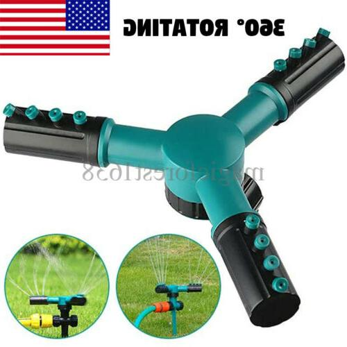360 rotating lawn sprinkler automatic garden water