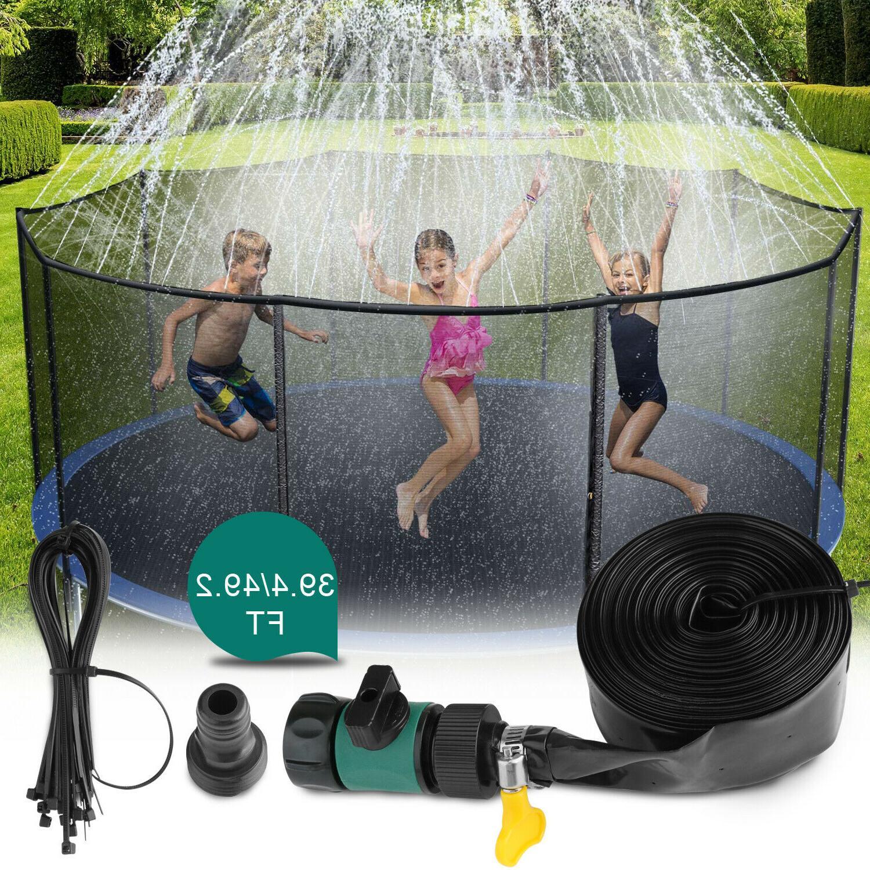 39ft 49ft trampoline sprinkler kids summer outdoor
