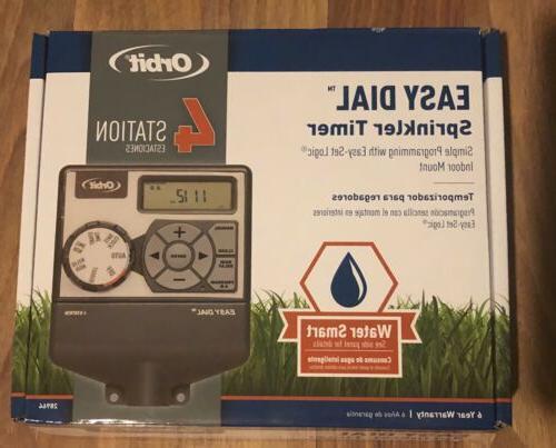 4 station easy dial sprinkler timer