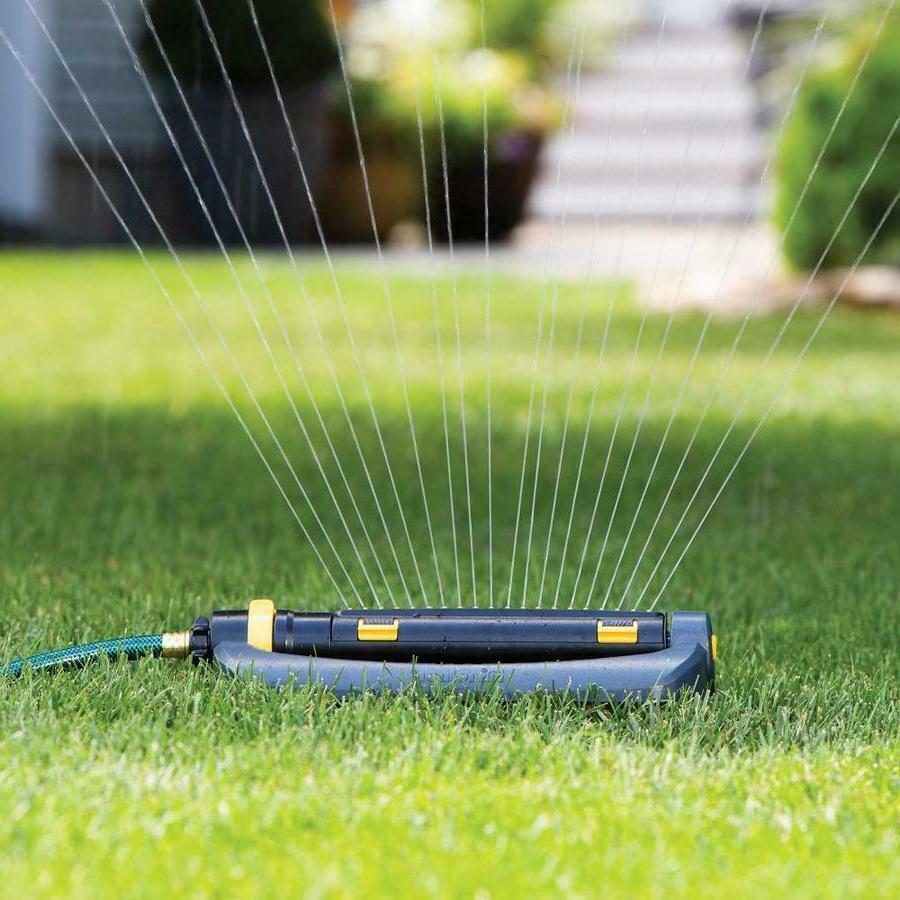 Melnor 4500-sq ft Turbo Oscillating Sled Lawn Sprinkler Rubb