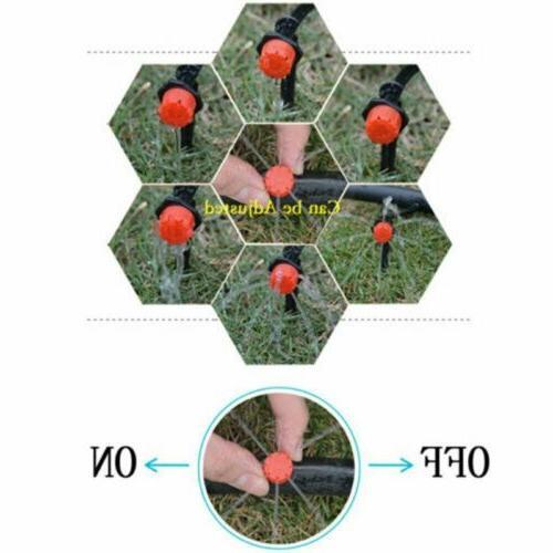 50/100Pc Mini Irrigation Adjustable Stake Dripper