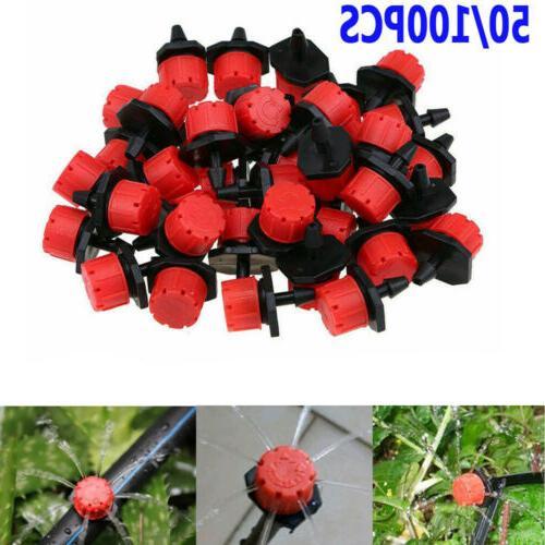 50 100pc mini irrigation sprinklers adjustable emitters