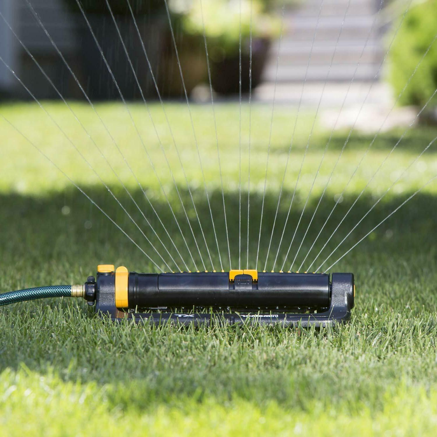 Oscillating Sprinkler Adjustment